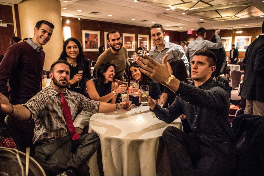 Group Photo at Table